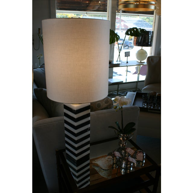 Mason Marble Stack Lamp For Sale In New York - Image 6 of 6