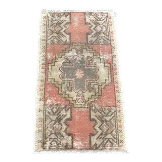 Vintage Distressed Turkish Wool Rug For Sale
