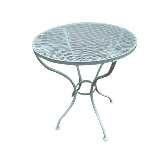 Woodard Round Mesh Steel Outdoor/Patio Side Table, Circa 1950 For Sale