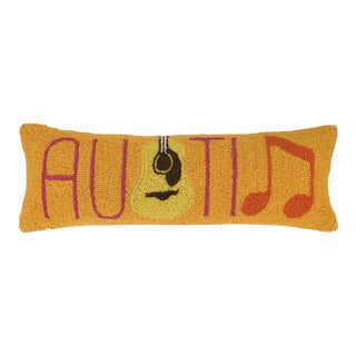 """Austin with Guitar Hook Pillow, 8"""" x 24"""" For Sale"""