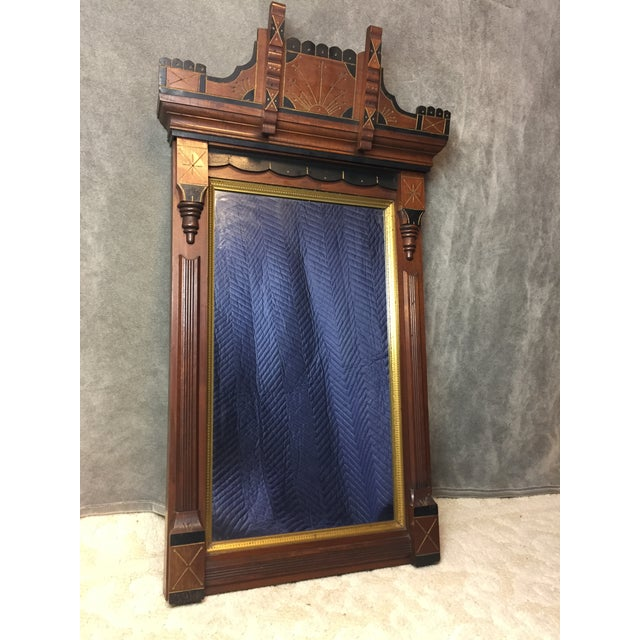 Antique Eastlake Heavy Carved Wall Mirror For Sale - Image 11 of 11