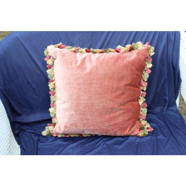 1960s Late 20th C. Italian Silk Velvet Scalamandre Pillow For Sale - Image 5 of 7