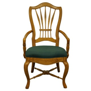 Late 20th Century Bernhardt Furniture Wheat Arm Chair For Sale