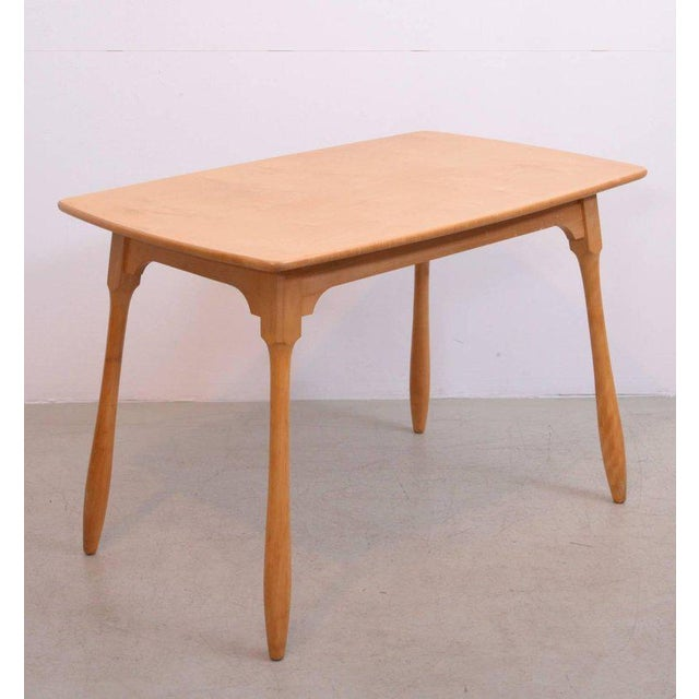 Beech Arno Lambrecht Dining Set of Table, Three Chairs and a Bench for WK Mobel For Sale - Image 7 of 11