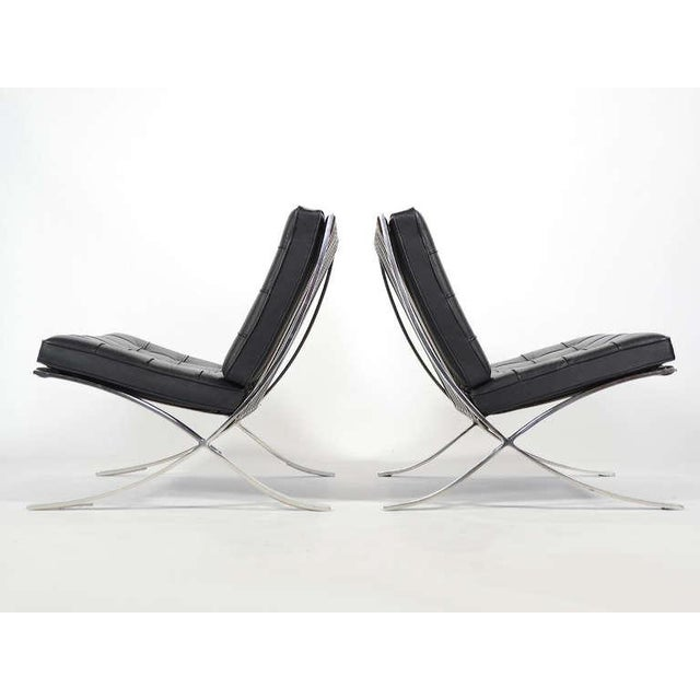 Knoll Ludwig Mies van der Rohe Barcelona Chairs by Knoll For Sale - Image 4 of 11
