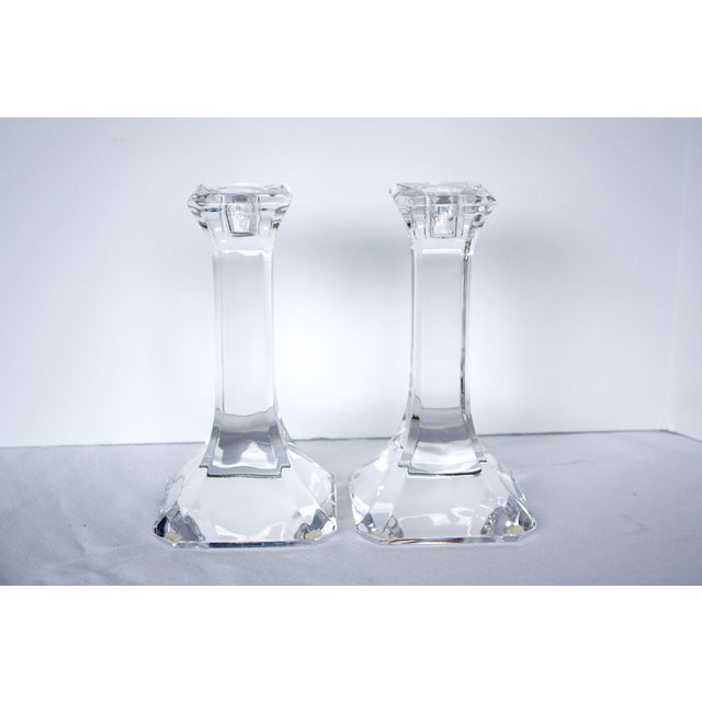 Orrefors Crystal Candlesticks - A Pair - Image 2 of 4