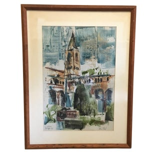 Mid-Century Modern Original Watercolor