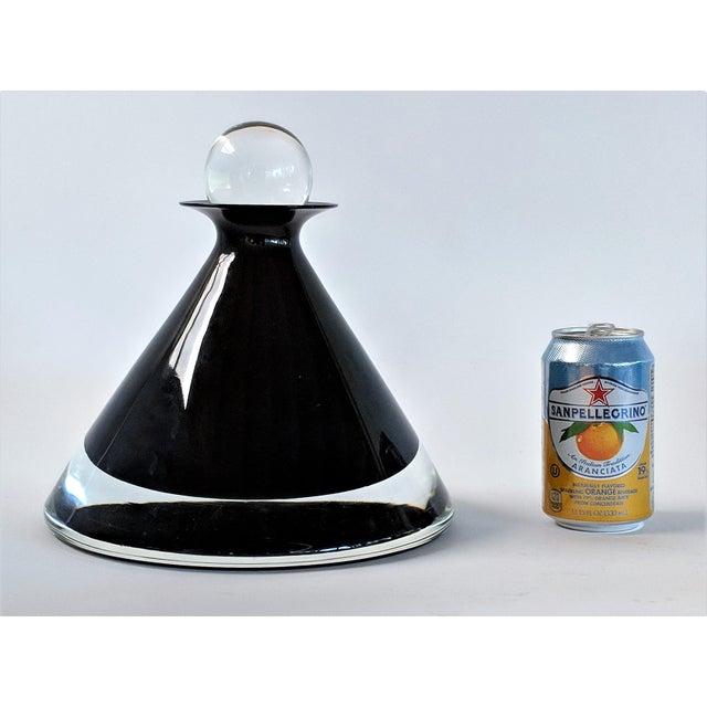 1980s Vintage Mario Pinzoni for Seguso Vetri d'Arte Glass Bottle For Sale - Image 10 of 13