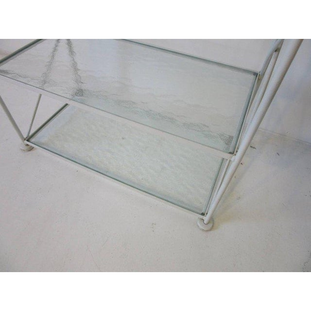 Russell Woodard Iron and Glass Etagere or Bookcase For Sale In Cincinnati - Image 6 of 7