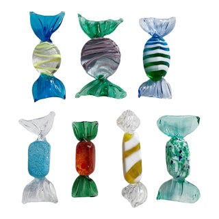 Vintage Italian Murano Glass Candies - Set of 7 For Sale
