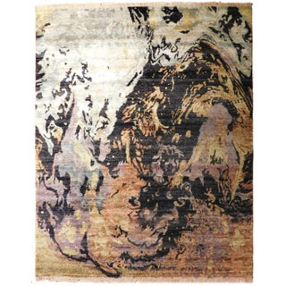 """Modern Hand-Knotted Luxury Rug - 8'1"""" X 9'11"""" For Sale"""