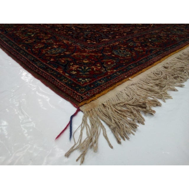 Textile 1920s Antique Persian Mohtasham Kashan Rug - 4′5″ × 7′ For Sale - Image 7 of 8