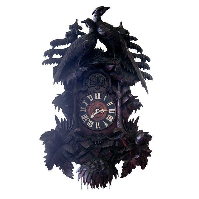 19th Century Black Forest Cuckoo Clock For Sale In Chicago - Image 6 of 7
