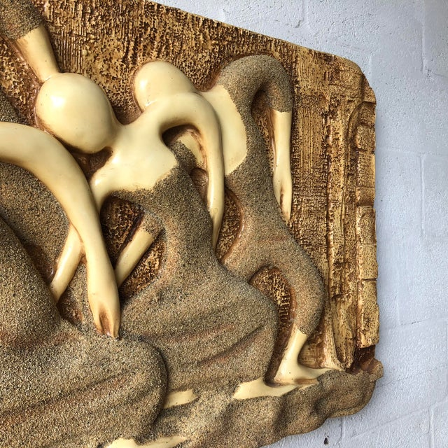 Large Vintage Mid Century Modern Brutalist Finesse Originals Fiberglass Wall Hanging Sculpture For Sale - Image 9 of 13