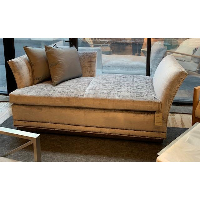The Millington Chaise has bee styled to be both glamorous and comfortable. The fabric is Perla in the colorway Platinum...