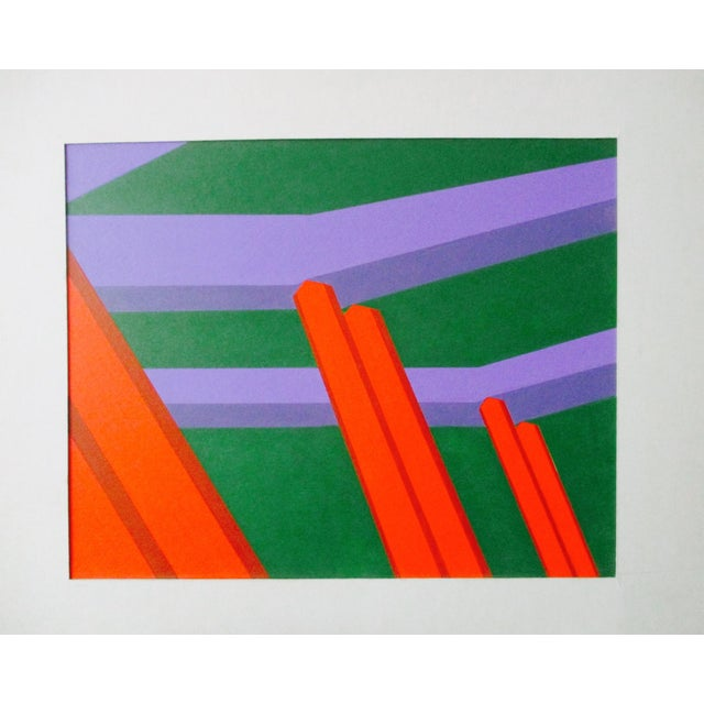 Abstract Geometric Acrylic Painting For Sale - Image 5 of 7