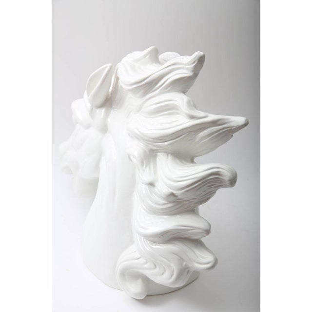 Late 20th Century Monumental Italian White Horse Head Sculpture For Sale - Image 9 of 10