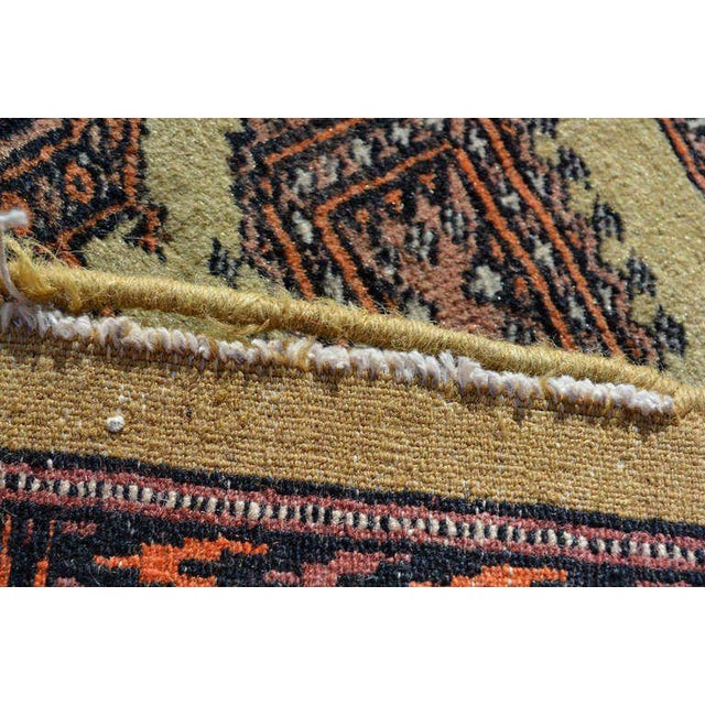 Anglo-Indian Persian Carpet Runner, Signed, 1940s For Sale - Image 3 of 9