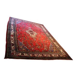 Hand Knotted Persian Area Rug - 5'11 x 10'3 For Sale