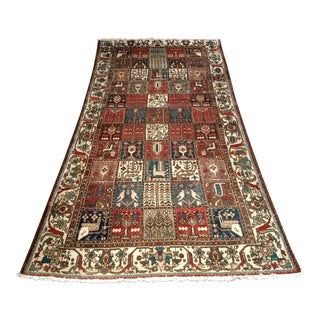 Persian Bakhtiari Tribal Carpet - 5′3″ × 9′9″