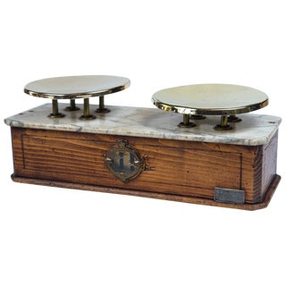 Marble Top Bakery Scale, France, Late 19th Century For Sale
