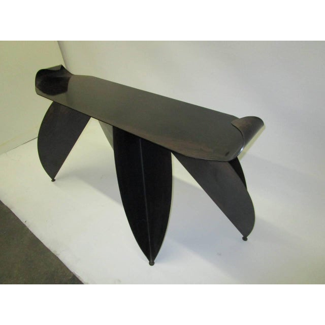 Steel Console Table with Sculptural Legs - Image 3 of 8