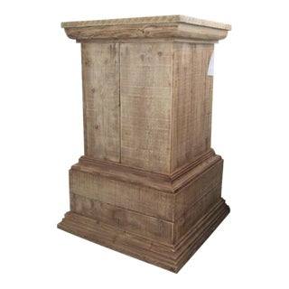 French Rustic Pine Pedestal