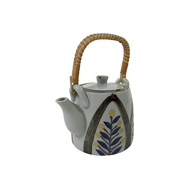 Mid-Century Modern Late 20th Century Hand Painted Japanese Teapot For Sale - Image 3 of 7