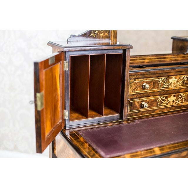 19th Century Lady's Desk Veneered with Rosewood For Sale - Image 11 of 13