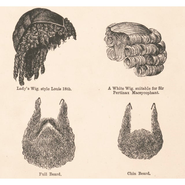 1800's Wigs and Beards Print - Image 3 of 5