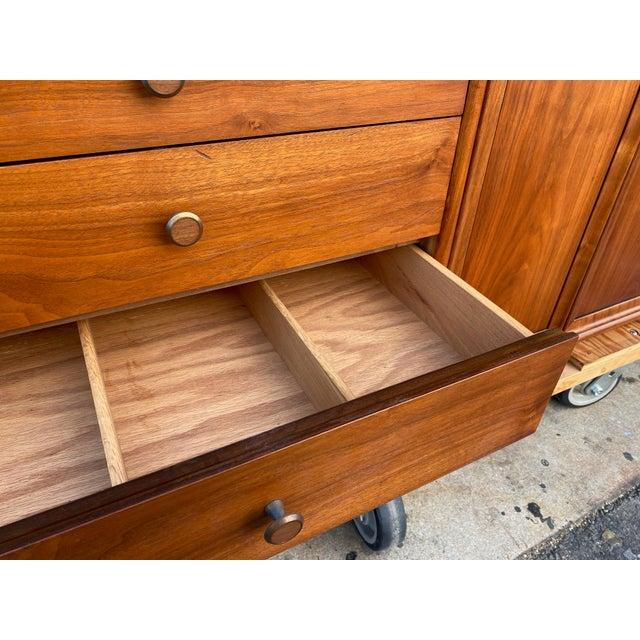 Wood 1960s Kipp Stewart for Drexel Mid Century Modern Walnut Credenza For Sale - Image 7 of 12