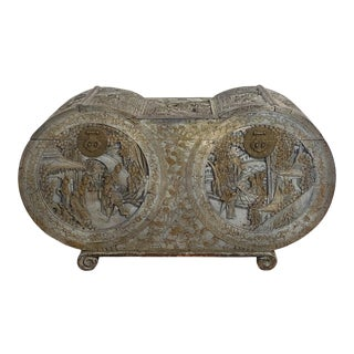 Circa 1880 Carved Camphor Trunk, China For Sale
