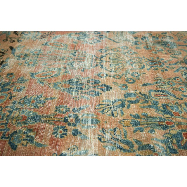 "Antique Distressed Lilihan Carpet - 9' x 11'1"" - Image 6 of 10"