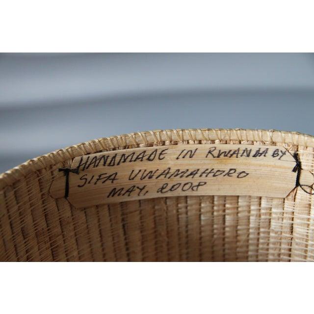 Rwanda Handmade Baskets - Set of Three For Sale - Image 6 of 8