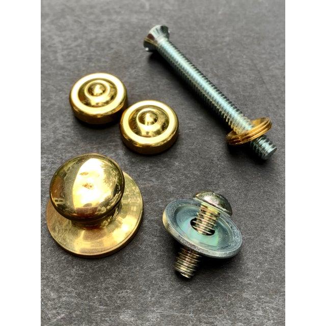 Italian Brass Hexagonal Ring Door Knocker For Sale - Image 4 of 11