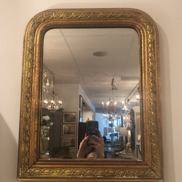 Gold Louis Phillipe Gold Mirror For Sale - Image 8 of 11