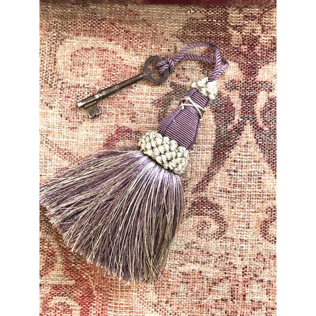 Key Tassel in Amethyst and Gray With Ruche Trim For Sale - Image 10 of 11