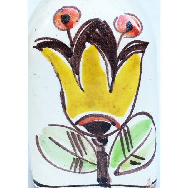 1960s Italian Pottery Vase Bottle Signed DeSimone For Sale - Image 6 of 7