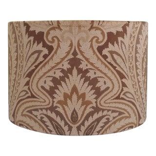Brown Velvet Lampshade Drum Travers by Mermose Veronese For Sale