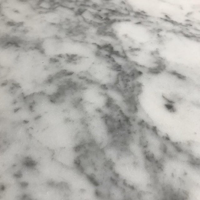 White 19th Century French Louis XVI Marble Top Table For Sale - Image 8 of 13