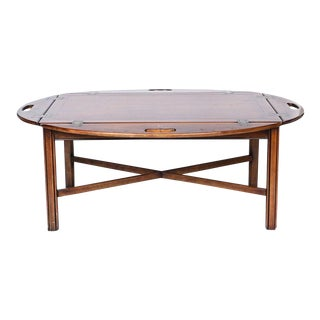 Vintage Mahogany Butler's Tray Table