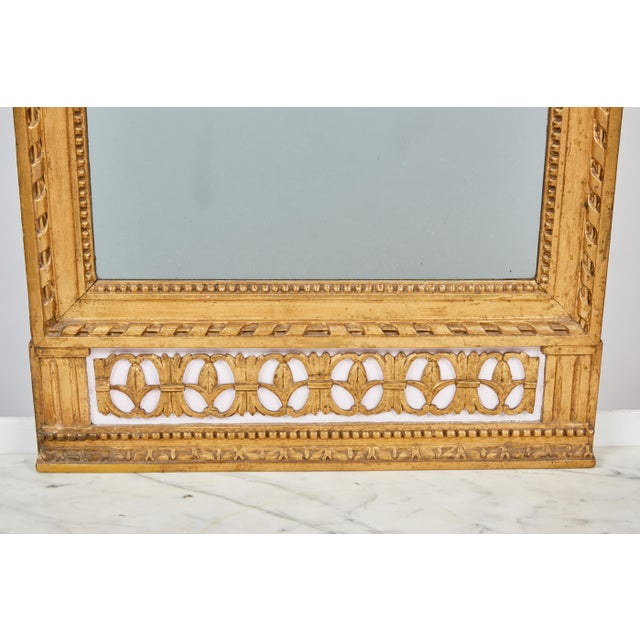 Mid-Century Modern 1790's Swedish White Marble and Gilded Console and Mirror For Sale - Image 3 of 10