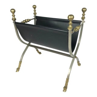 Maison Jansen Style Italian Magazine Rack For Sale