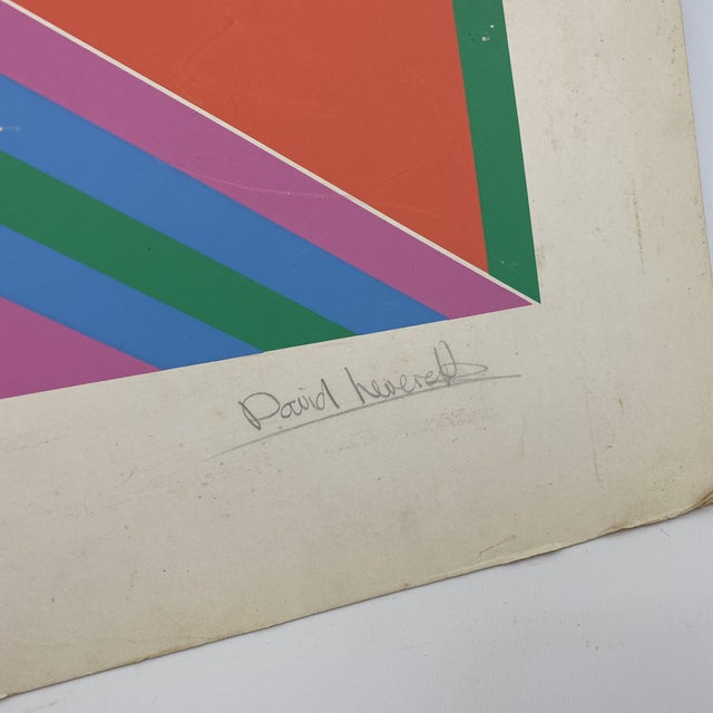 Unframed and ready for matting is this pencil signed and number David Leverett serigraph in vibrant colors of pink,...