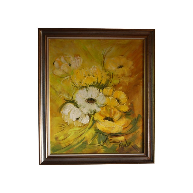 Mid Century Hollywood Regency Poppy Painting - Image 1 of 9