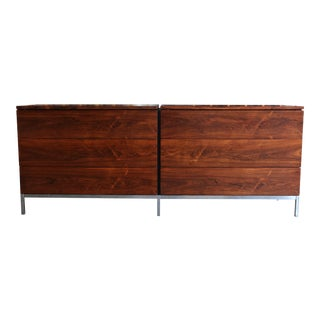 1960s Mid-Century Modern Florence Knoll Rosewood Dresser For Sale