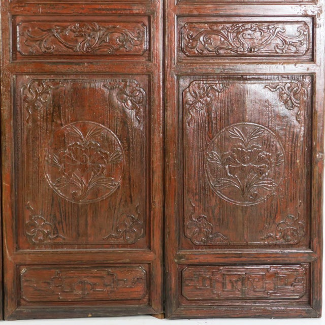 Early 20th Century Early 20th Century Antique Chinese Carved Courtyard Doors For Sale - Image 5 of 13