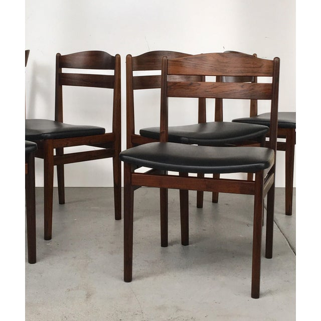 Danish Modern Rosewood Dining Chairs - Set of 6 - Image 4 of 8
