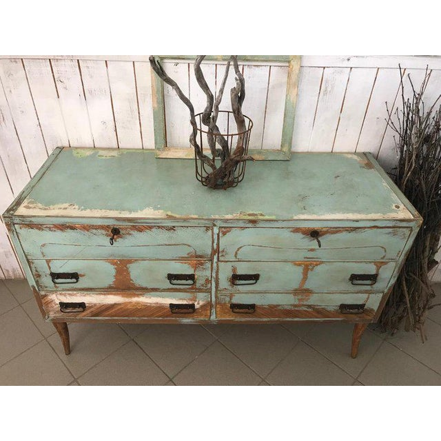 1970s 20th Century Italian Vintage Design Lacquered Commode or Chest With Frame For Sale - Image 5 of 13