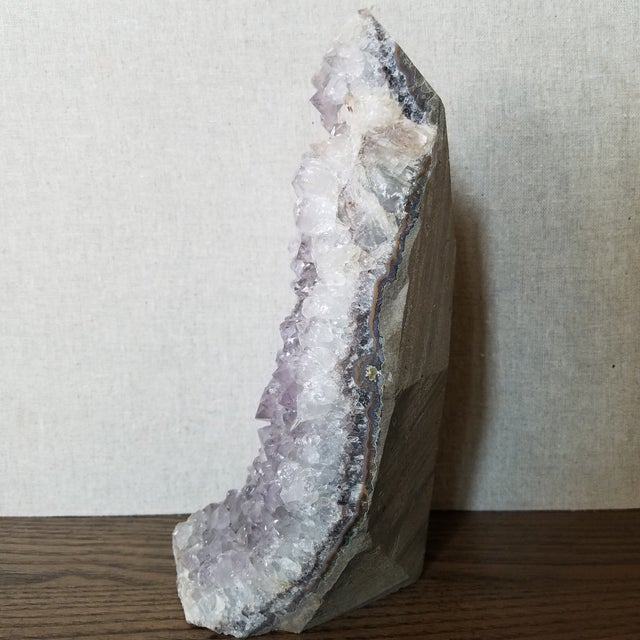 Late 20th Century Brazilian Amethyst Stone Cluster For Sale - Image 5 of 10